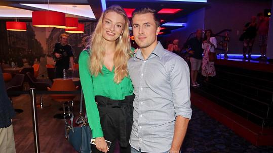 Tereza se snoubencem Tomášem