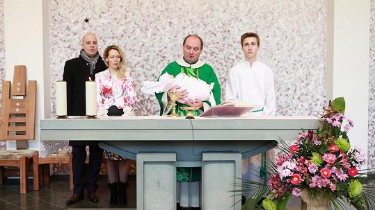 Markéta Martiníková nechala pokřtít svoji prvorozenou dceru