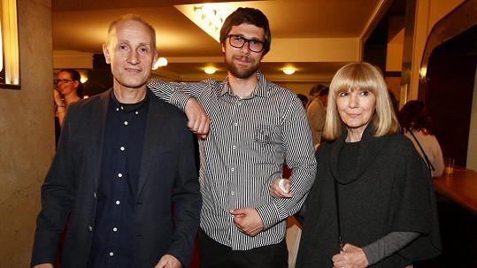 Josef Carda s manželkou a synem