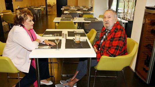 Jiřina Bohdalová s prvním manželem Břetislavem Stašem