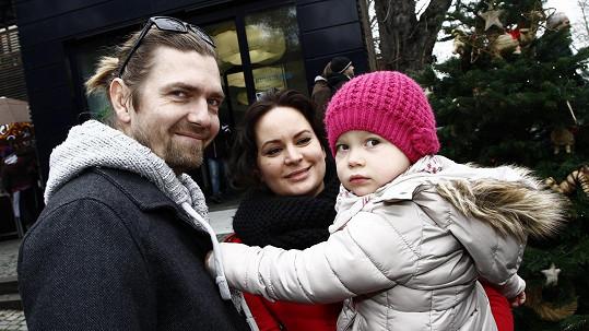 Jitka Čvančarová s manželem Petrem a dcerou Elenou
