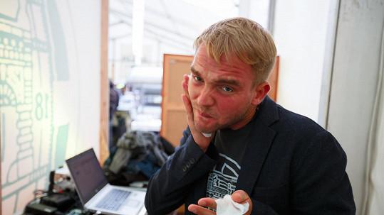 Libor Bouček značně zčervenal.