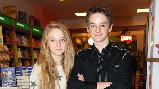 Anna-Marie Valentová s bratrem Matyášem