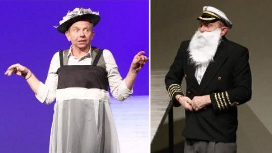 Herec vystřídal ve hře Titanic mnoho převleků.