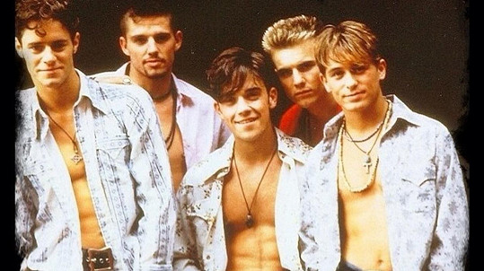 Kapela Take That v dobách své největší slávy.