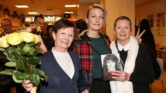 Anna Polívková s tetou Julií (vlevo) a maminkou Evelynou Steimarovou