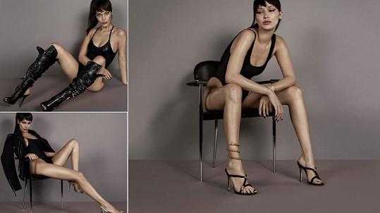 Bella Hadid (21) v reklamní kampani značky Giuseppe Zanotti