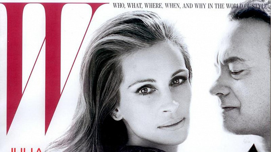Julia Roberts a Tom Hanks na obálce magazínu W