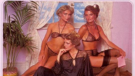 Modelky z katalogu Victoria´s Secret z roku 1979.
