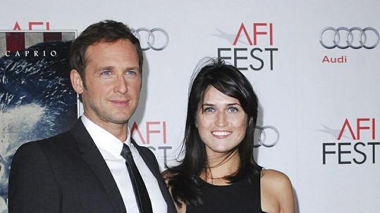 Josh Lucas s manželkou Jessicou.