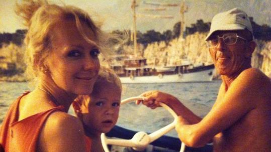 Gabriela Osvaldová se svým synem Frantou Soukupem.