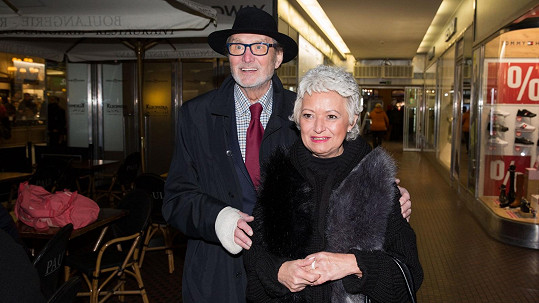 Ladislav Frej s partnerkou Gábinou