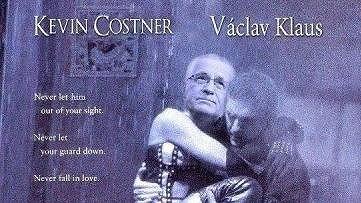 Nový hit internetu: Václav Klaus a Kevin Costner.