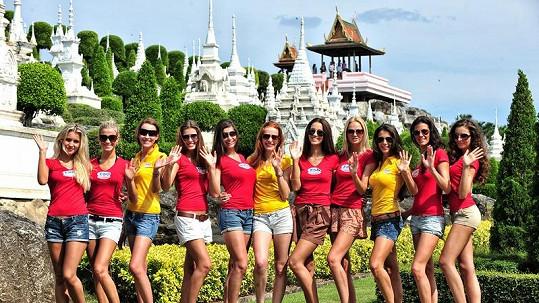 Finalistky České Miss v Thajsku.