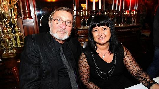 Ladislav Frej s přítelkyní Gábinou