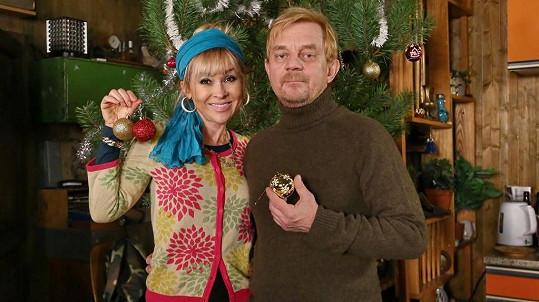 Vánoční výzdobu si Hrachovcová užila díky seriálu Přístav.