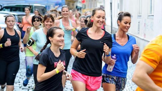 Renata Czadernová se účastní hromadných běžeckých akcí
