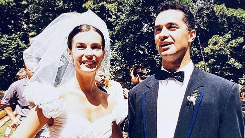 Martin Dejdar s manželkou Danielou před víc jak 25 lety na svatbě