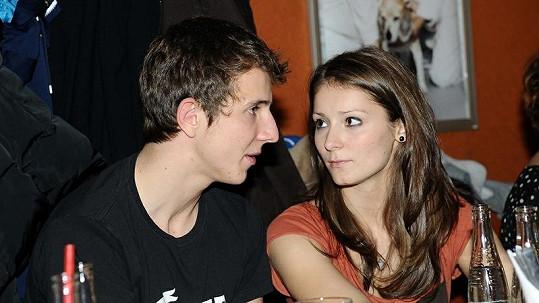 Jakub Štáfek s přítelkyní Majdou.
