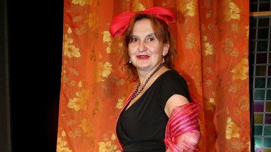 Eva Holubová v kostýmu.