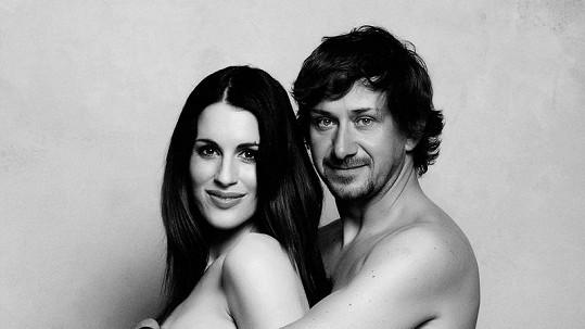 Lucie s manželem Davidem pár dní před porodem.