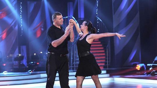 Imrich Bugár s tanečnicí Jitkou Šorfovou.