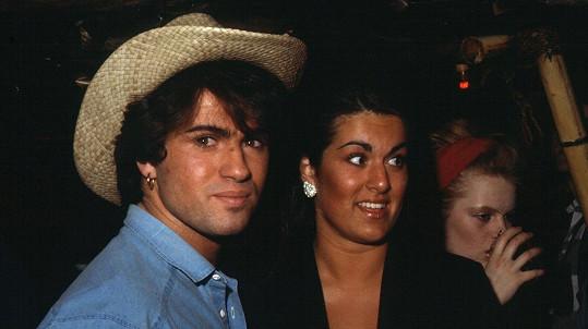 George Michael se sestrou Melanií na snímku z poloviny 80. let