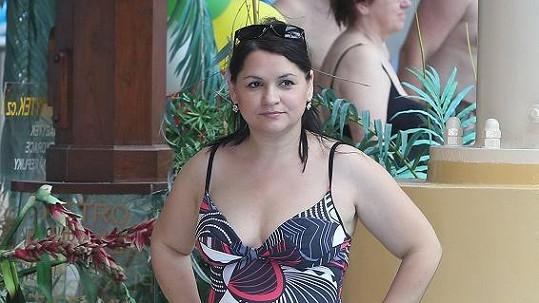 Magda u bazénu.