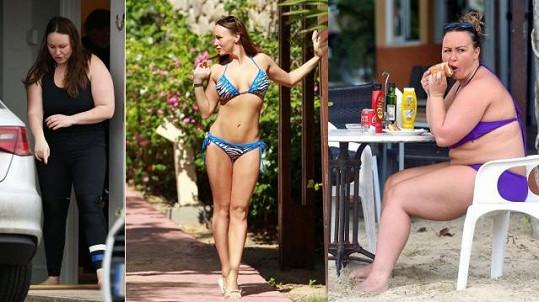 Britská televizní hvězdička Chanelle Hayes (30) a její proměny v čase.