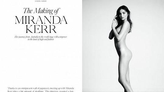 Miranda Kerr se svlékla pro magazín Industrie.