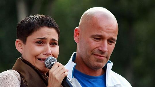 Vlaďka Erbová se vedle Honzy Musila nekontrolovatelně rozplakala.