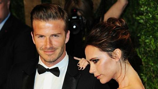David Beckham s manželkou Victorií.