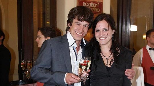 Martin Kraus s přítelkyní Klárou