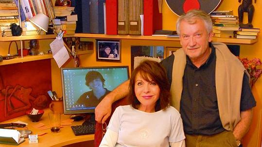 Bára Tachecí s partnerem Václavem Hradeckým.