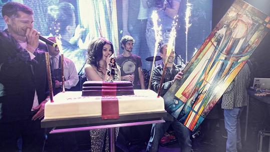 Celeste oslavila své narozeniny jak se patří.