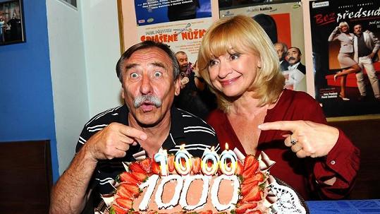 Jana Paulová s Pavlem Zedníčkem spolu odehráli 1000 představení.