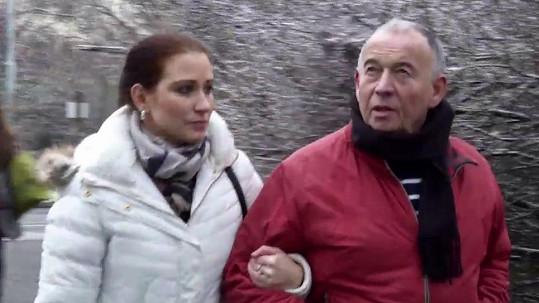 Ivan Vyskočil s partnerkou Romanou Fenclovou