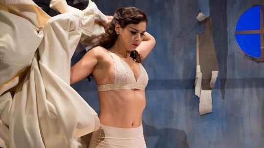 Marta Ondráčková ve spodním prádle