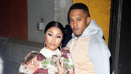 Nicki Minaj s manželem Kennethem Pettym