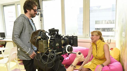 Vendula Svobodová natáčela videoklip.