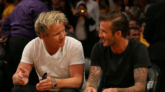 Gordon Ramsay a David Beckham jsou dobrými přáteli.