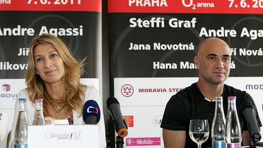 Nejslavnější tenisový pár Steffi Graf a Andre Agassi v Česku.