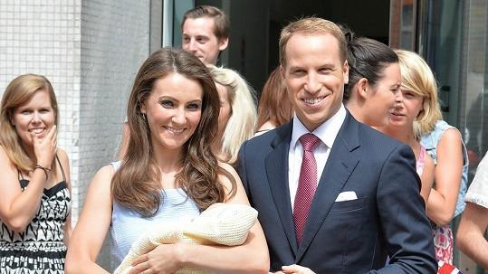 Nicola a Tom před televizním studiem v Londýně