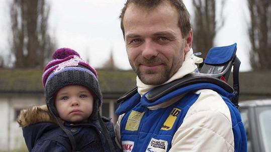 Lukáš Langmajer se synem Mikulášem