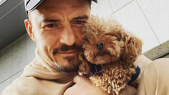 Orlando Bloom a jeho pudl Mighty