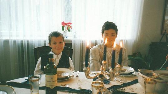 Martin Chobot (vpravo) byl roztomilý už jako malý kluk.