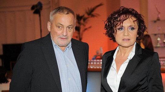Petra Janů se svým zesnulým manželem Michalem Zelenkou.
