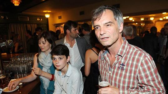 Ivan Trojan s manželkou a se synem.