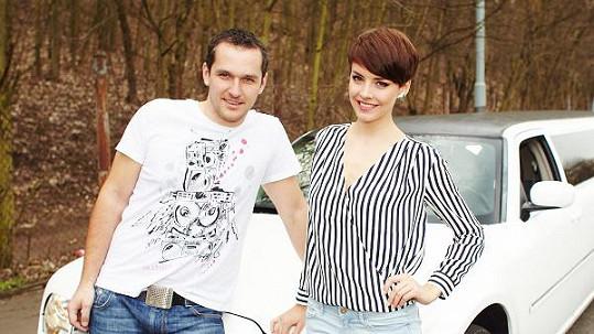 Česká Miss Gabriela Kratochvílová s Mírou Hejdou.