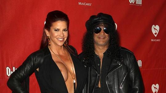 Slash se svou manželkou Perlou